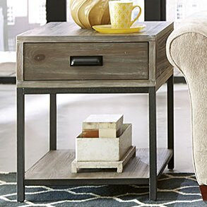 Upson End Table by Three Posts
