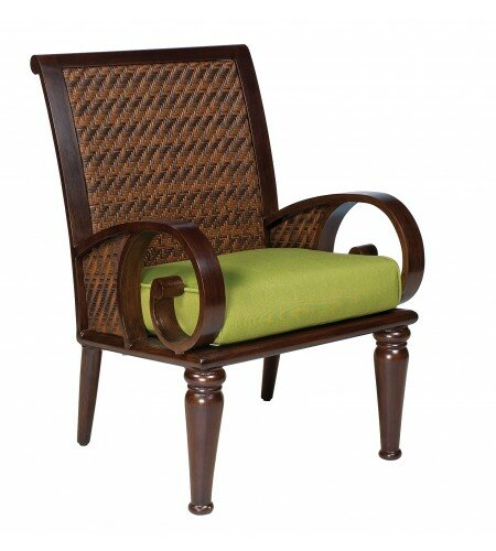 North Shore Patio Dining Chair with Cushion by Woodard