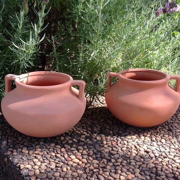 Culley Round Terracotta Pot Planter (Set of 2) by Winston Porter
