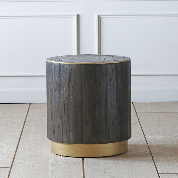 Cramden Drum End Table By Brayden Studio