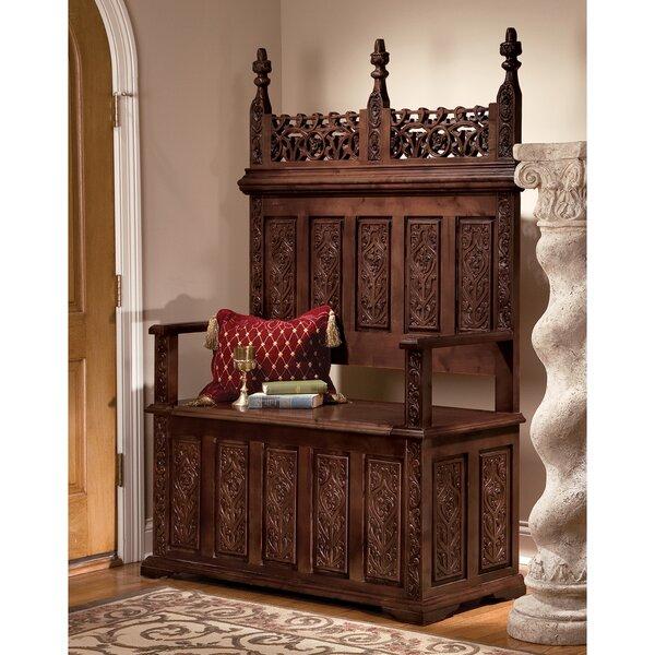 York Monastery Wood Storage Bench by Design Toscano