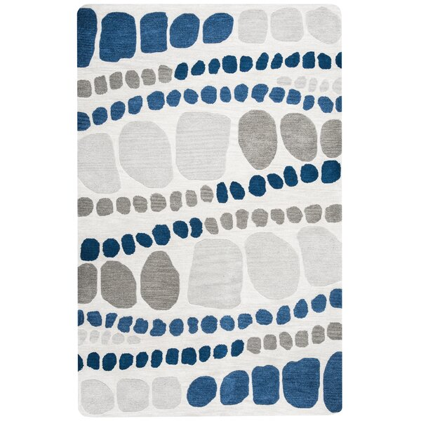Kenmore Hand-Tufted Gray Area Rug by Rosecliff Heights