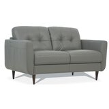 Rideout Genuine Leather 59 Flared Arm Loveseat by Corrigan Studio®
