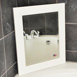 Read Reviews Rectangle White Satin Wide Wall Mirror By Latitude Run