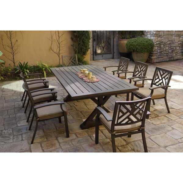 Elin 9 Piece Dining Set with Cushions by Gracie Oaks