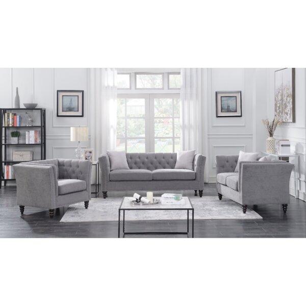 Buy clear Aiken 3 Piece Living Room Set by Alcott Hill