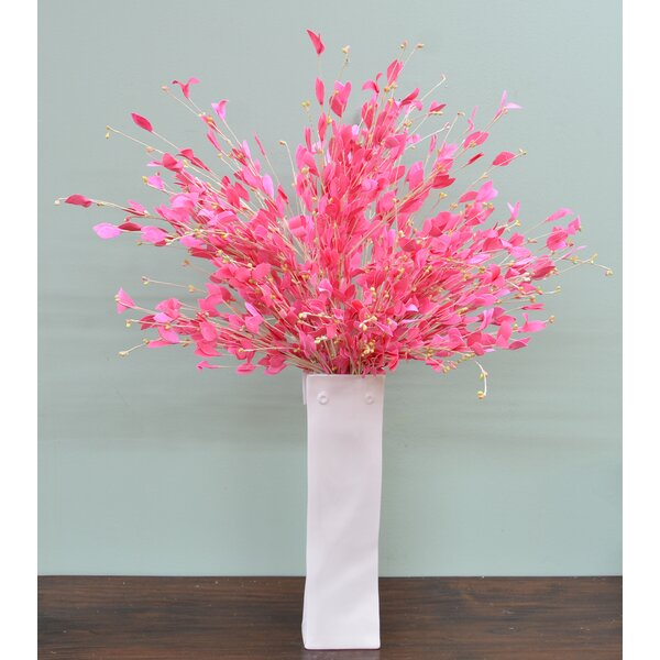 Leave Pink Floral Arrangement (Set of 6) by House of Hampton