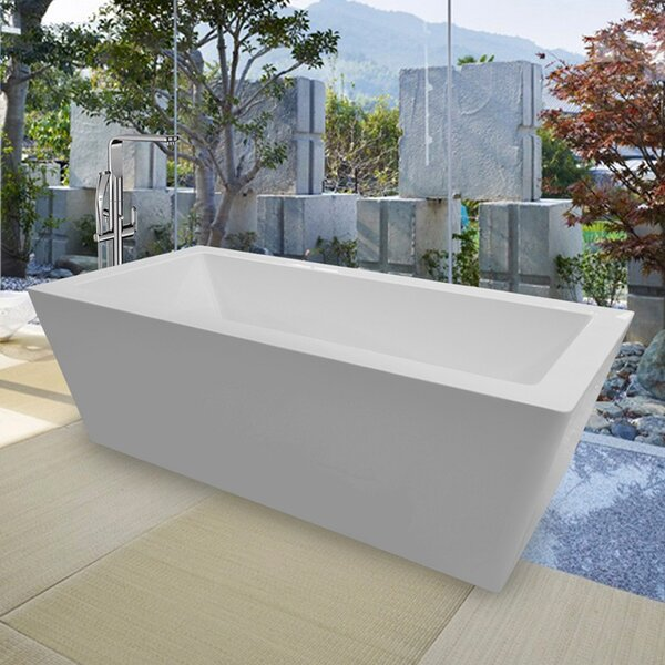 PureScape Freestanding Soaking Bathtub by Aquatica