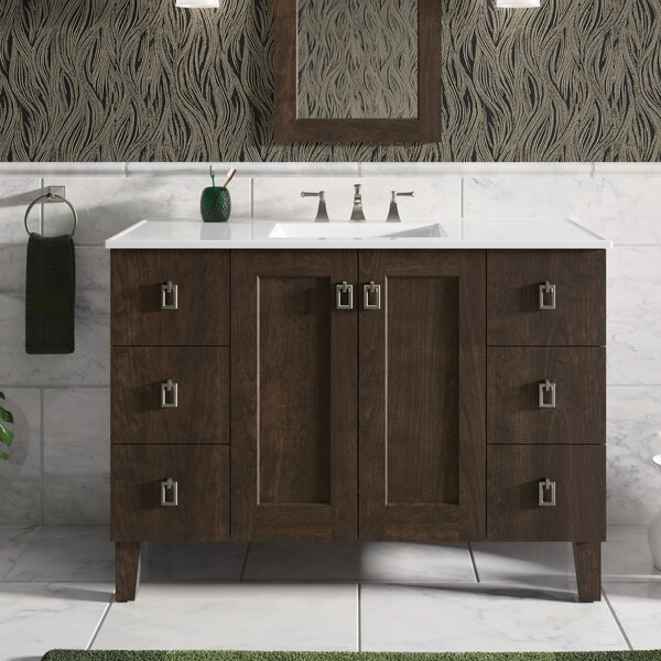 Poplin™ 51 Wall-Mounted Single Bathroom Vanity Set by Kohler