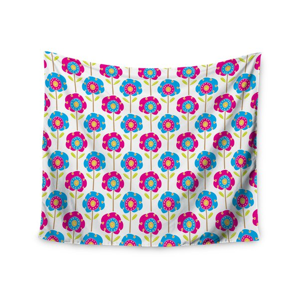Lolly Flowers by Apple Kaur Designs Wall Tapestry by East Urban Home