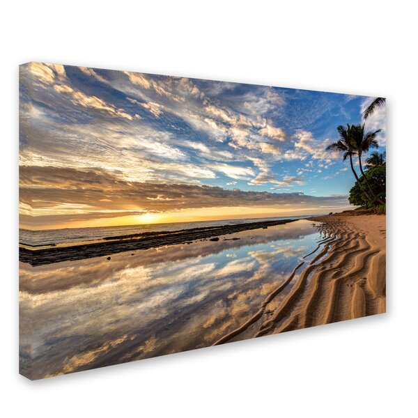 Kauai Kailani Sunrise by Pierre Leclerc Photographic Print on Wrapped Canvas by Trademark Fine Art