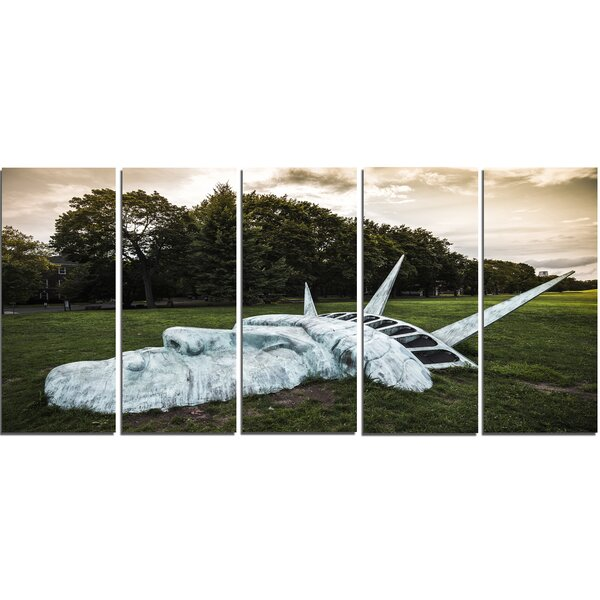 Statue of Liberty 5 Piece Photographic Print on Wrapped Canvas Set by Design Art
