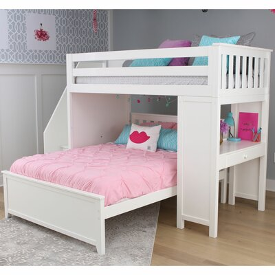 Twin Over Full Shape Bunk Bed Drawers Bed Frame Color Product Photo