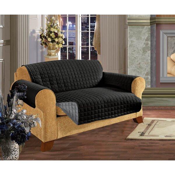 Reversible T-Cushion Sofa Slipcover By Winston Porter