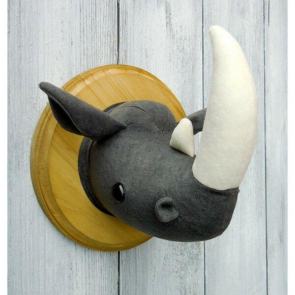Rhino Faux Taxidermy 3D Wall Décor by Zooguu