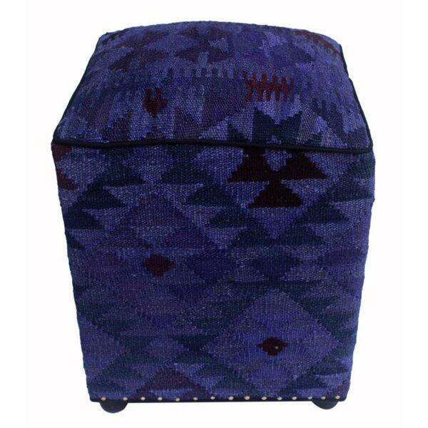 Branum Kilim Cube Ottoman by Union Rustic