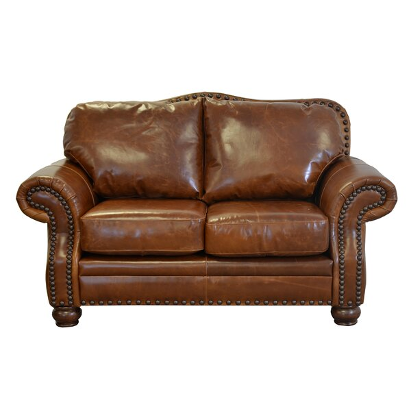 Parker Leather Loveseat By Westland And Birch