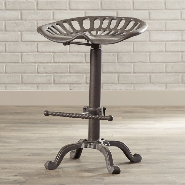 Iceberg Adjustable Height Swivel Bar Stool by Trent Austin Design