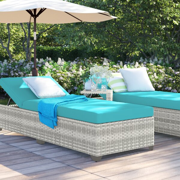 Falmouth Reclining Sun Lounger Set with Cushions and Table by Sol 72 Outdoor Sol 72 Outdoor