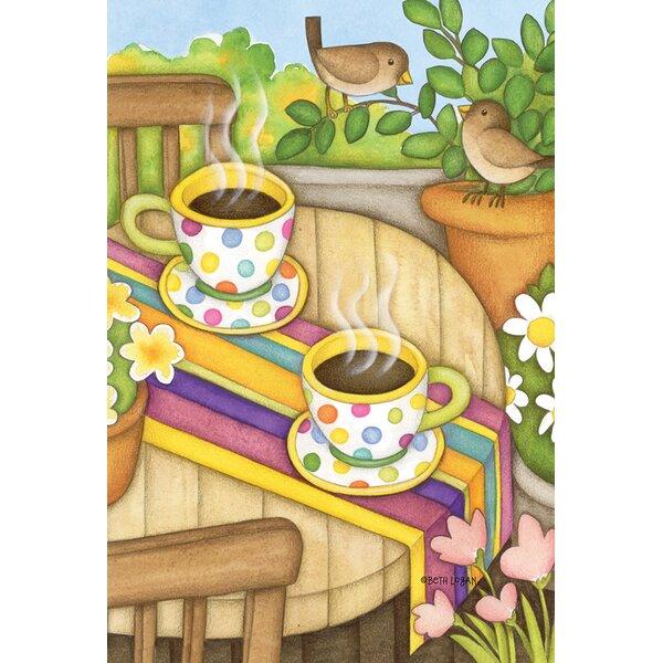 Coffee and Wrens Garden flag by Toland Home Garden