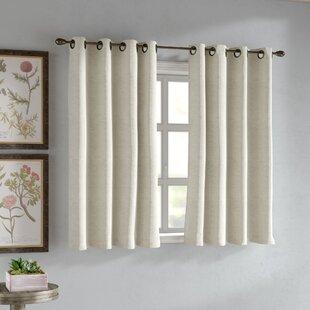 Gleason Short Solid Room Darkening Grommet Single Curtain Panel