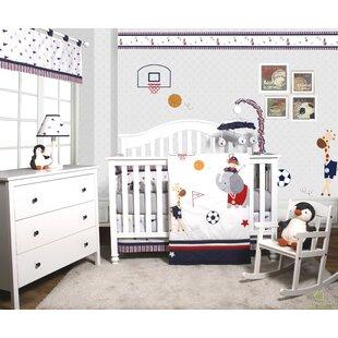 Porter Animal Sports Festival 6 Piece Baby Boy Nursery Crib Bedding Set Of