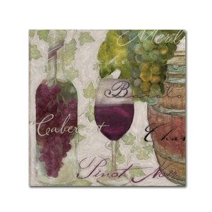 'Wine Cellar I' by Color Bakery Graphic Art on Wrapped Canvas by Trademark Fine Art