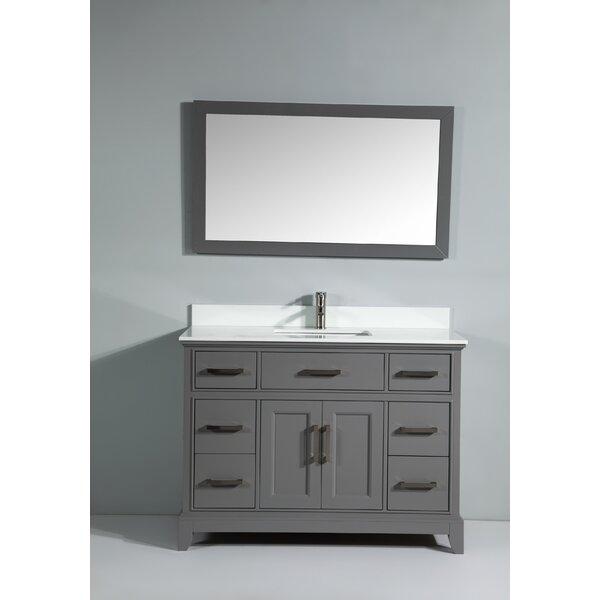 Junie Stone 48 Single Bathroom Vanity with Mirror by Gracie Oaks