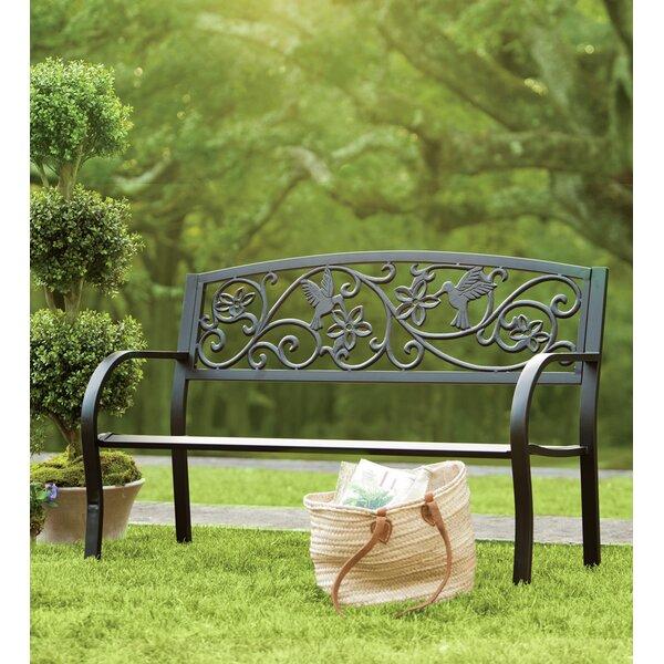 Hummingbird Metal Garden Bench by Plow & Hearth