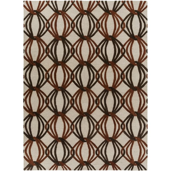 Stow Beige/Black Area Rug by George Oliver