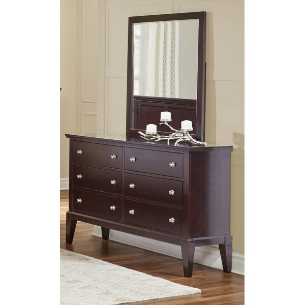 Odachowski 6 Drawer Double Dresser with Mirror by Red Barrel Studio