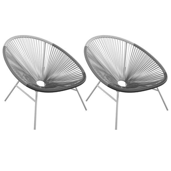 Avo Outdoor Patio Chair (Set Of 2) By CosmoLiving By Cosmopolitan by CosmoLiving by Cosmopolitan Modern