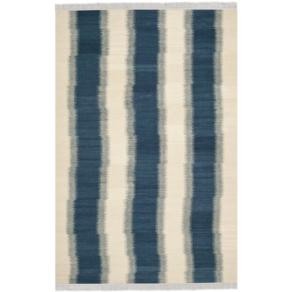 Brook Lane Blue & Ivory Area Rug by Highland Dunes