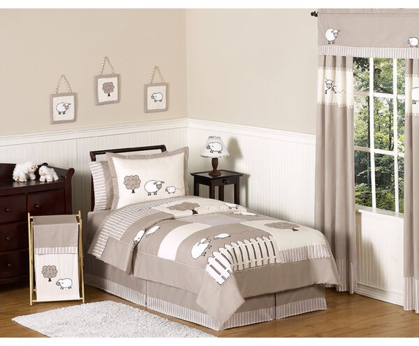 Little Lamb 4 Piece Twin Comforter Set by Sweet Jojo Designs