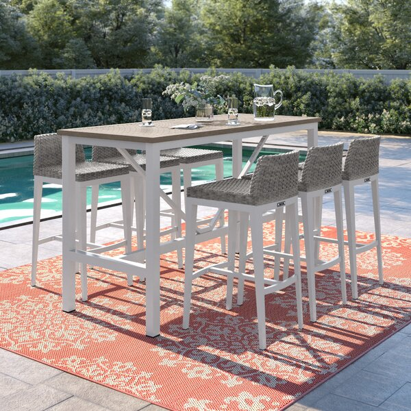 Caspian 7 Piece Bar Height Dining Set by Sol 72 Outdoor