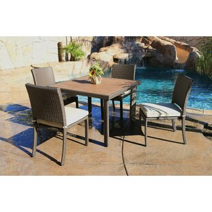 Heffington 5 Piece Dining Set with Cushion By Latitude Run