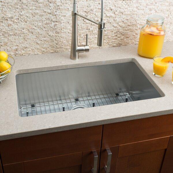 30 L x 18 W Single Bowl Kitchen Sink by Hahn