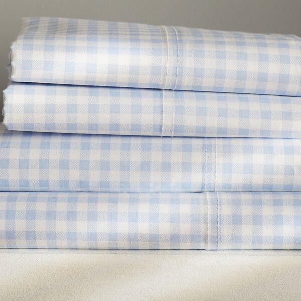 Alberta Gingham 250 Thread Count Sheet Set by Birch Lane™
