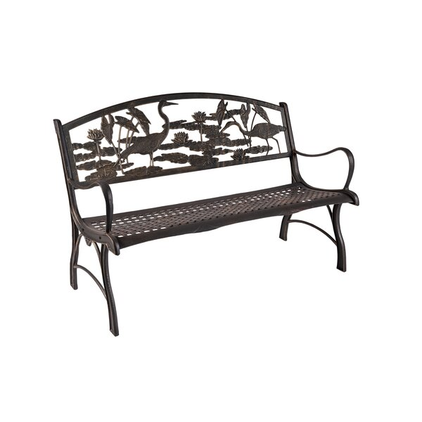 Lentini Horse Cast Iron Park Bench by Rosecliff Heights
