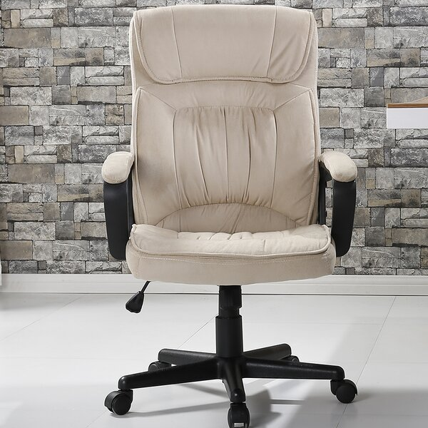 Drago Office Microfiber High Back Padded Executive Chair by Ebern Designs