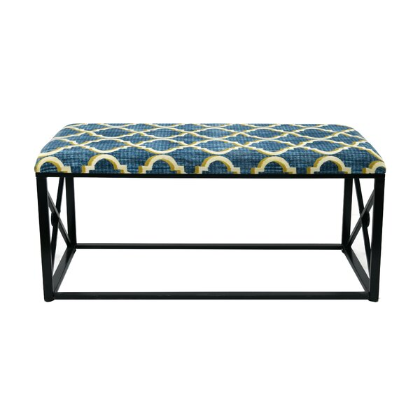 Amedee Upholstered Bench By Everly Quinn Today Sale Only
