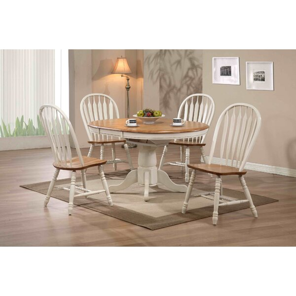Florentia 5 Piece Extendable Solid Wood Dining Set by Beachcrest Home