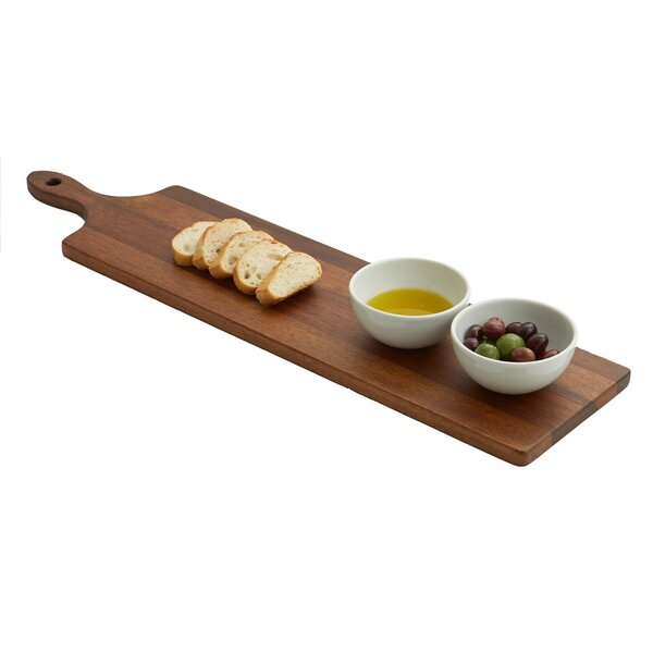 Jace Paddle Board with 2 Dip Dishes by Mint Pantry