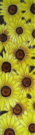 Multi Sunflower Tile Wall Decor by Continental Art Center