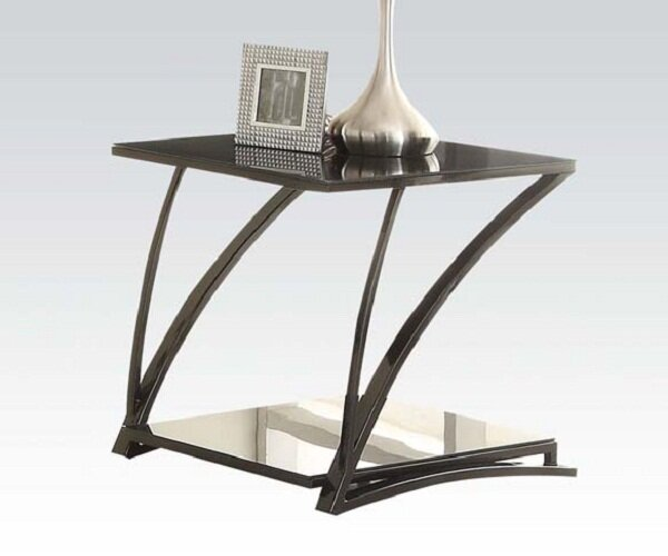 Ince Glass End Table by Latitude Run