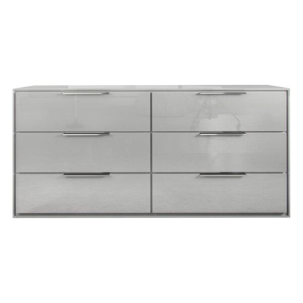 Darwen 6 Drawer Double Dresser by Wade Logan