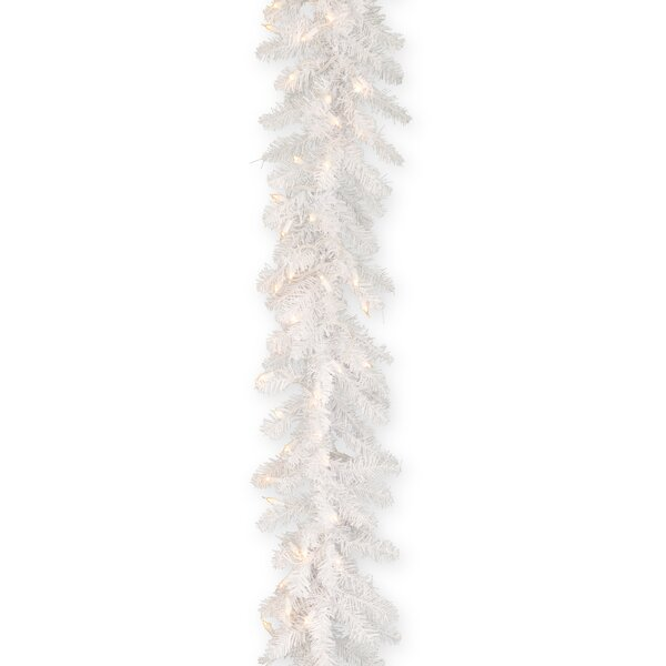 Fir Garland with Clear Lights by House of Hampton