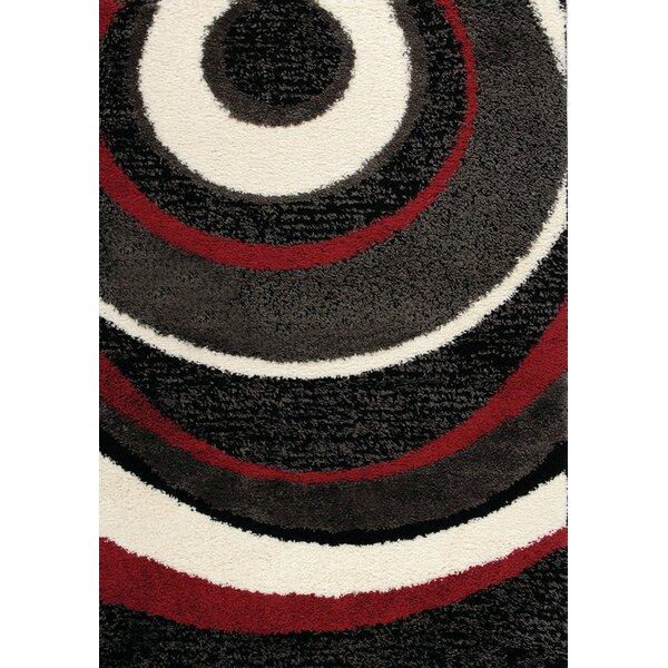 Retzlaff Red/Charcoal Area Rug by Orren Ellis
