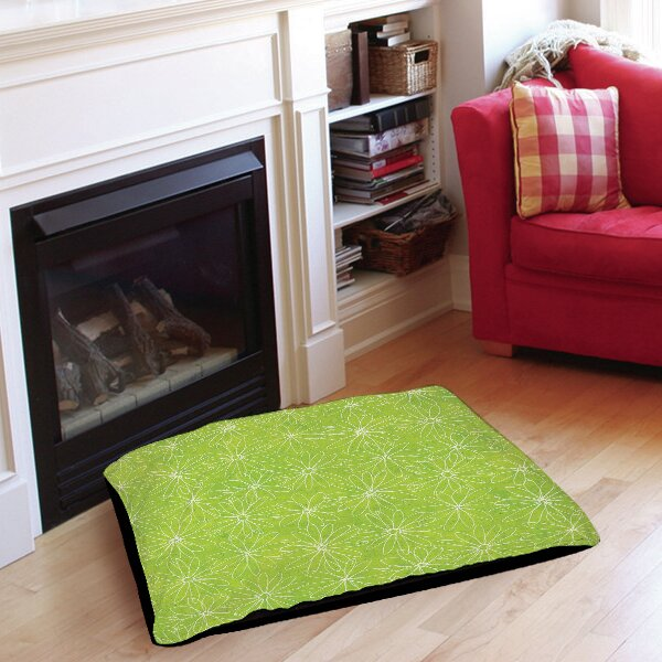 Funky Florals Daisy Sketch Pet Bed by Manual Woodworkers & Weavers