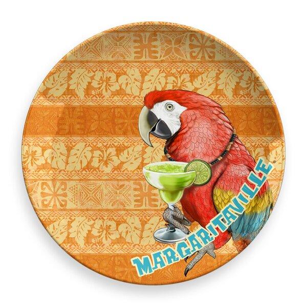 Margaritaville Parrot Batik Round Melamine Platter by Margaritaville